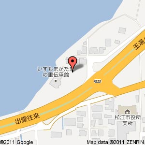 伝承館 宝石探し体験コーナーの地図
