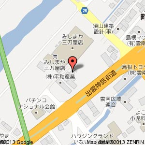 めし屋 里の地図