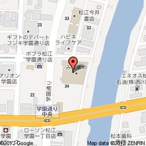 みしまや 学園店の地図