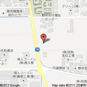 みしまや 大田長久店の地図