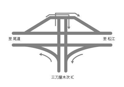 尾道松江線 三刀屋木次インターチェンジ
