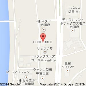 モスバーガー 益田店の地図