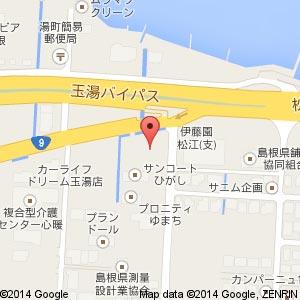 ナガワ島根営業所の地図