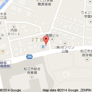 ナマステ・ガネーシャ 松江店の地図