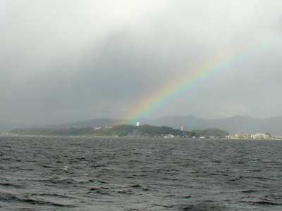 宍道湖の虹