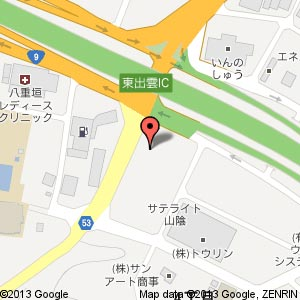 西尾レントオール 松江営業所の地図