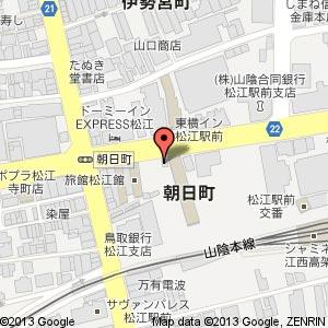日産レンタカー 松江駅前店の地図