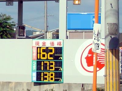 岡山市のガソリン価格