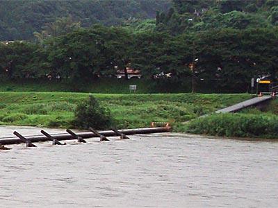2009年7月 大雨 木次町斐伊川潜水橋