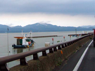 2009年7月 大雨 宍道町宍道湖岸