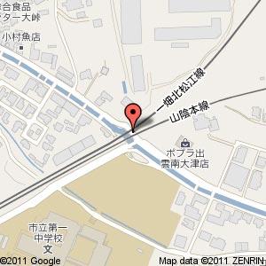 大津里道踏切の地図
