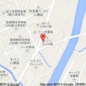 極みの手 松江西川津店の地図