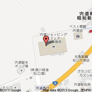 ショッピングスクェアベル内 パンタジー 宍道店の地図