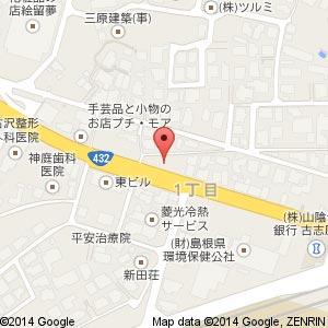 ポプラ 松江古志原1丁目店の地図
