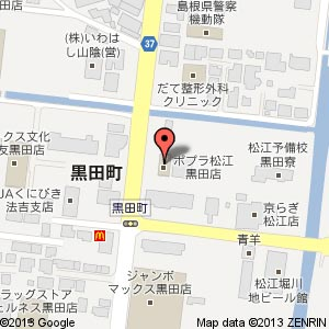 ポプラ 松江黒田店の地図