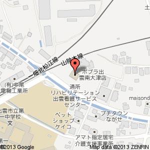 ポプラ 出雲南大津店の地図