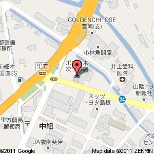 ポプラ 木次里方店の地図