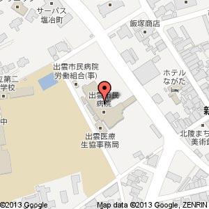 ポプラpal 出雲市民病院店の地図