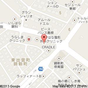 ぱーどれ 東出雲店の地図