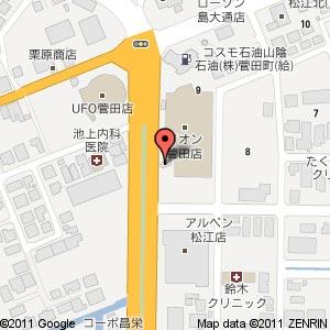 らーめん大學 松江菅田店の地図