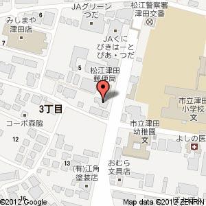 中華蕎麦・奨 津田店の地図