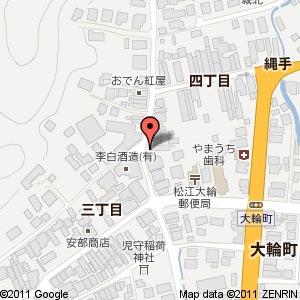 李白酒造さんの新店舗の地図