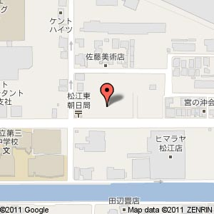 立正佼成会 松江教会新築工事の地図