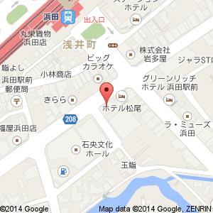 炭火焼肉屋さかい 浜田店の地図