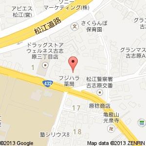 酒パラダイス古志原店の地図