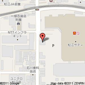 焼肉酒家 さくら亭 松江店の地図