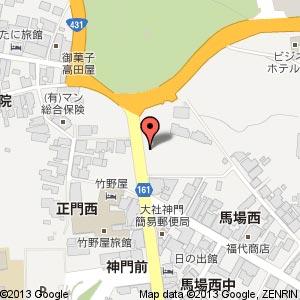 SANBE BURGER 出雲大社店(縁結びHills)の地図