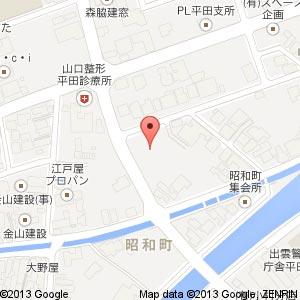 シニアコート平田の地図