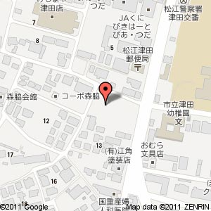 シニアコート西津田の地図