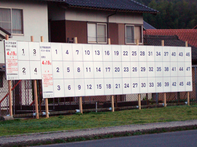 2009年 松江市長選・松江市議選 ポスター掲示板