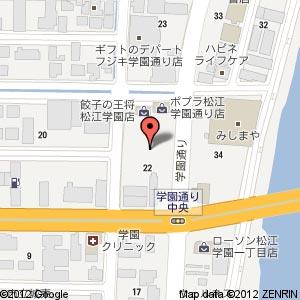 シダックス 松江学園通りクラブの地図