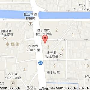 しまね信用金庫 雑賀支店(移転後)の地図