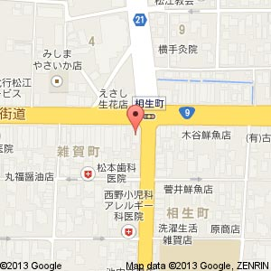 しまね信用金庫 雑賀支店(移転前)の地図