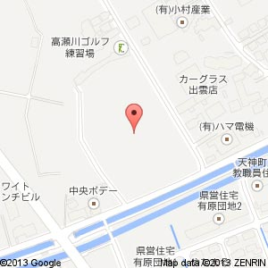 新有原団地(仮称)の地図