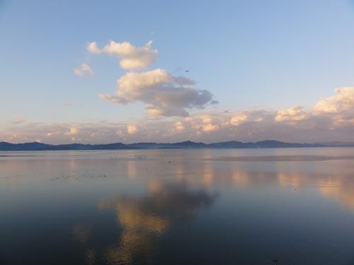 雲南石油本社から見た宍道湖