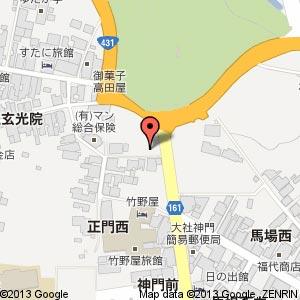 出雲大社前に2013年3月オープン予定の3店舗の地図
