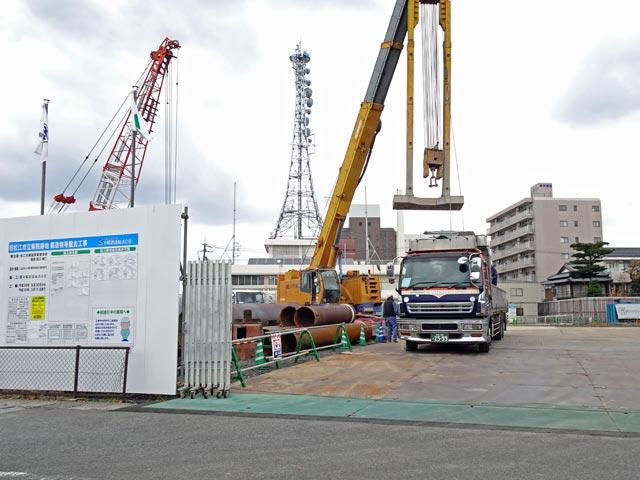 旧松江市立病院跡地 構造物等撤去工事