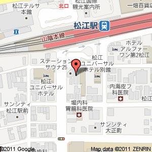 白木屋 松江店の地図