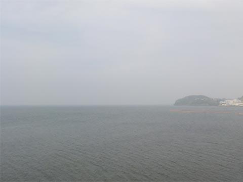 濃霧 松江方向を望む