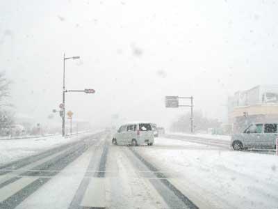 松江市玉湯町 雪の状況