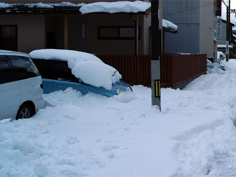 2011年元旦の大雪 @松江
