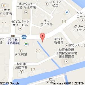 ソフトバンク 松江学園通(新店舗)の地図