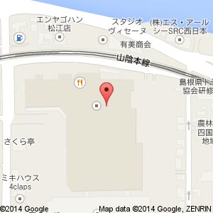 studioCLIP イオン松江SC店の地図