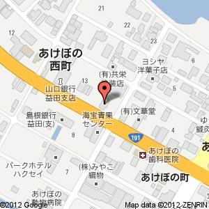 すき家 191号益田店の地図