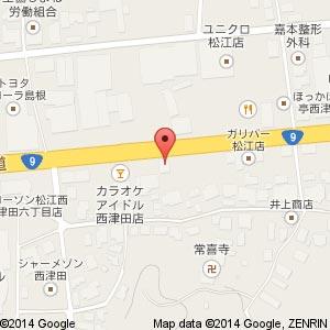 すき家 9号松江西津田店の地図