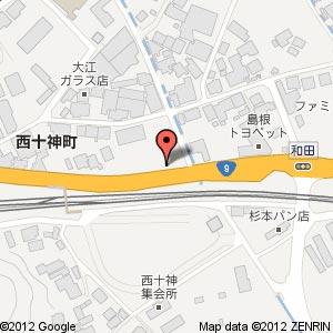 すき家 9号線安来店?の地図